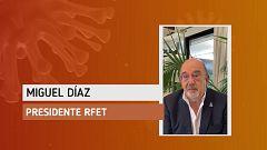 """Miguel Díaz: """"Creo que volverá a haber tenis en el útlimo cuatrimestre"""""""