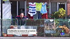 España Directo - Confinados en menos de 40 metros cuadrados