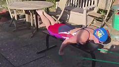 Los nadadores confinados tiran de ingenio para entrenar sin piscina