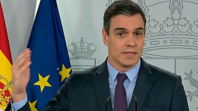 """Sánchez: """"Estas tres semanas de aislamiento y sacrificio colectivo están rindiendo sus frutos"""""""