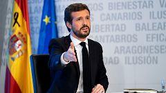 PP y Ciudadanos apoyan la prórroga del estado de alarma y Abascal rechaza hablar con Sánchez