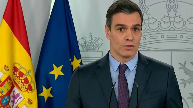 """Sánchez: """"Nos aguardan varias semanas de restricciones muy estrictas, os pedimos permanecer en casa"""""""