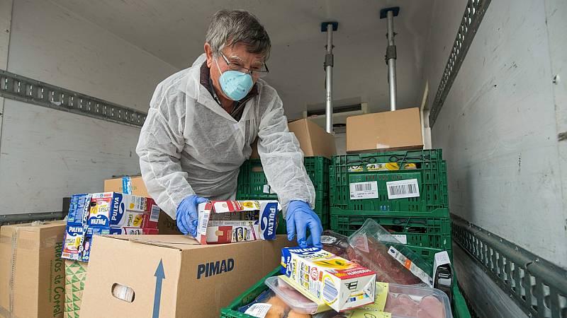 Los bancos de alimentos, con las reservas bajo mínimos por el coronavirus