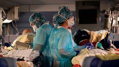 'A pelo contra el coronavirus': el lema de los sanitarios franceses para pedir más material