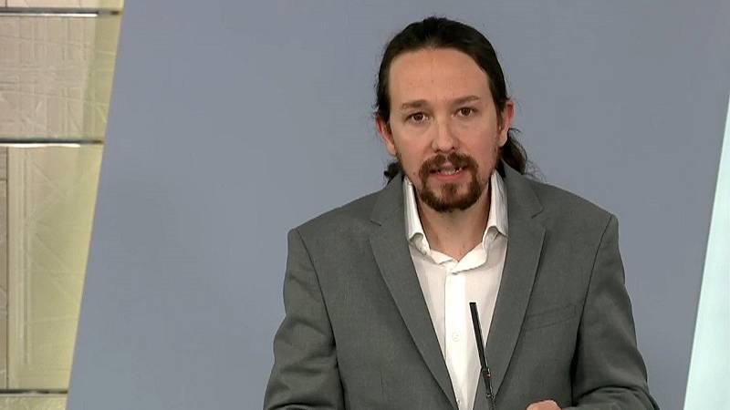 """Iglesias anuncia que el Gobierno estudia crear un ingreso mínimo vital """"lo antes posible"""""""