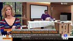 El primer funeral por videoconferencia en España en tiempos de coronavirus