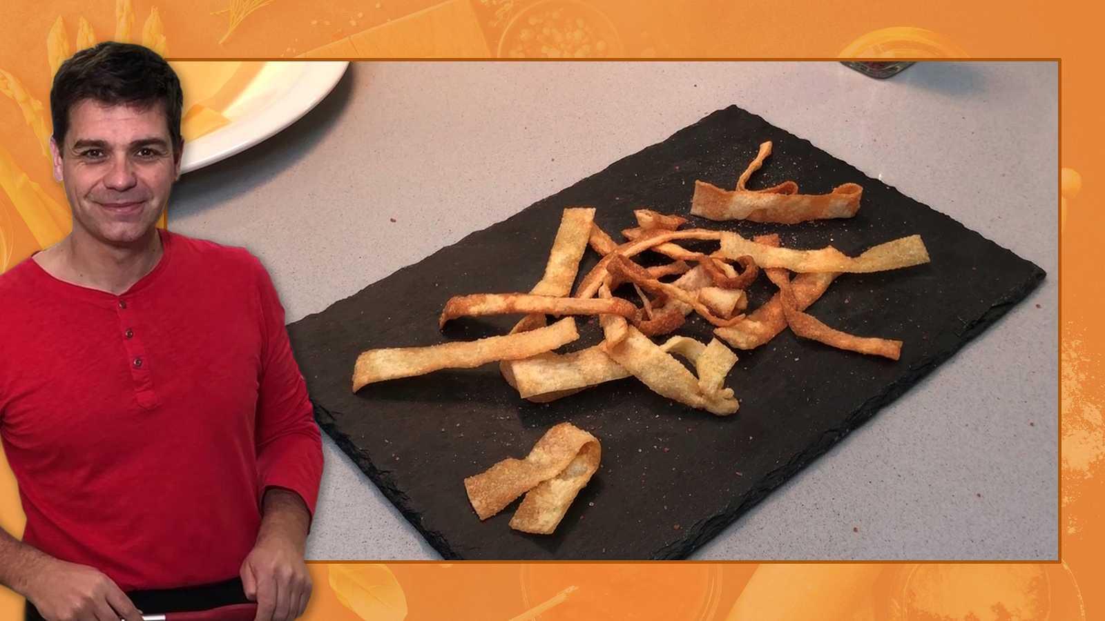 Recetas de cuarentena con Sergio - Truco para convertir las láminas de lasaña en un aperitivo