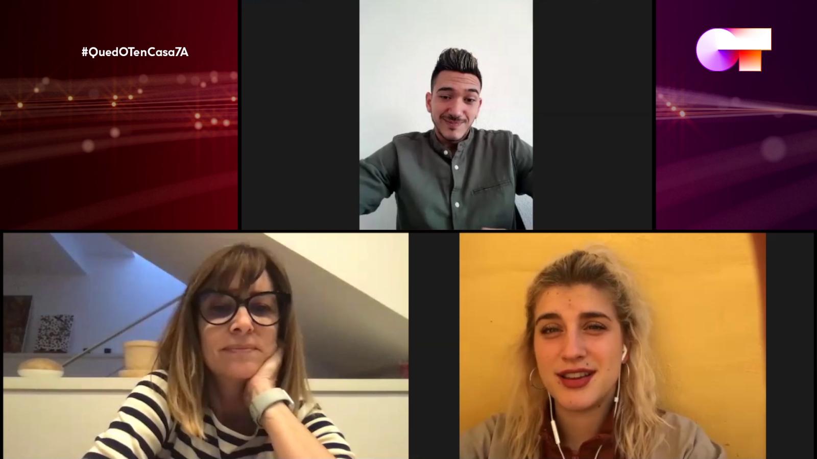 Samantha, Bruno y Noemí Galera charlan por videollamada