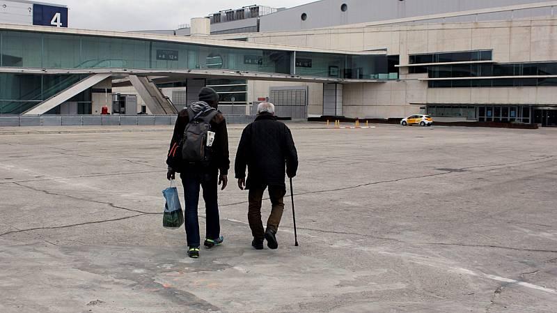 El recinto de IFEMA, en Madrid, acoge uno de los dos albergues para personas sin hogar habilitados por el coronavirus