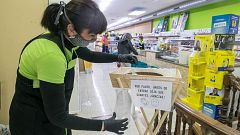 Trabajar en los súper durante la pandemia: más carga y riesgo de contagio en las cajas