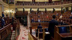 El Pleno del Congreso guarda un minuto de silencio por los fallecidos