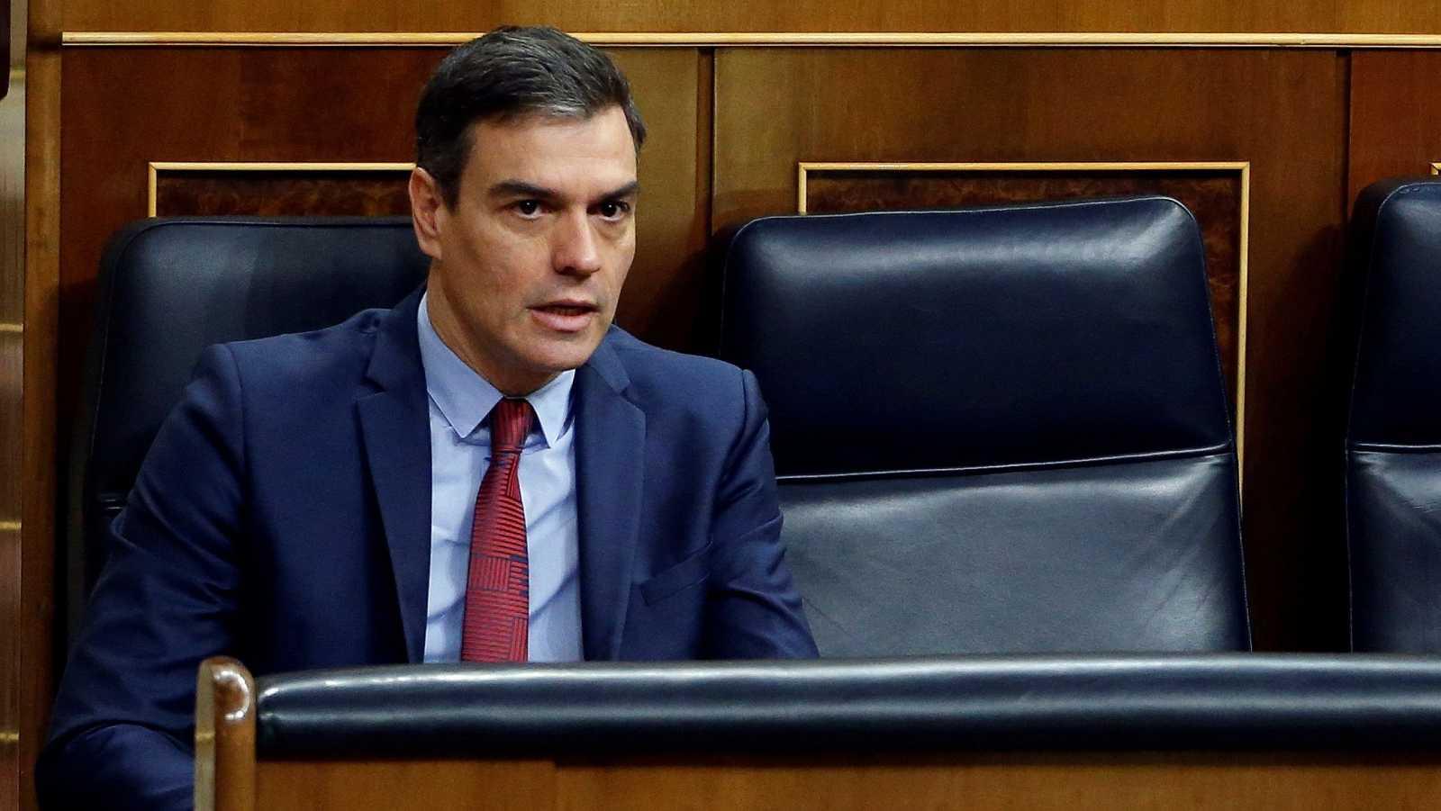 """El presidente del Gobierno, Pedro Sánchez, ha planteado la idea de hacer unos nuevos Pactos de la Moncloa como los de 1977,para hacer frente a la crisis de coronavirus.""""Lo que les propongo es un gran acuerdo para la reconstrucción eco"""