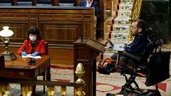 """Unidas Podemos acusa a Vox de utilizar la """"mentira"""" y al PP de estar """"fuera de la Constitución"""""""