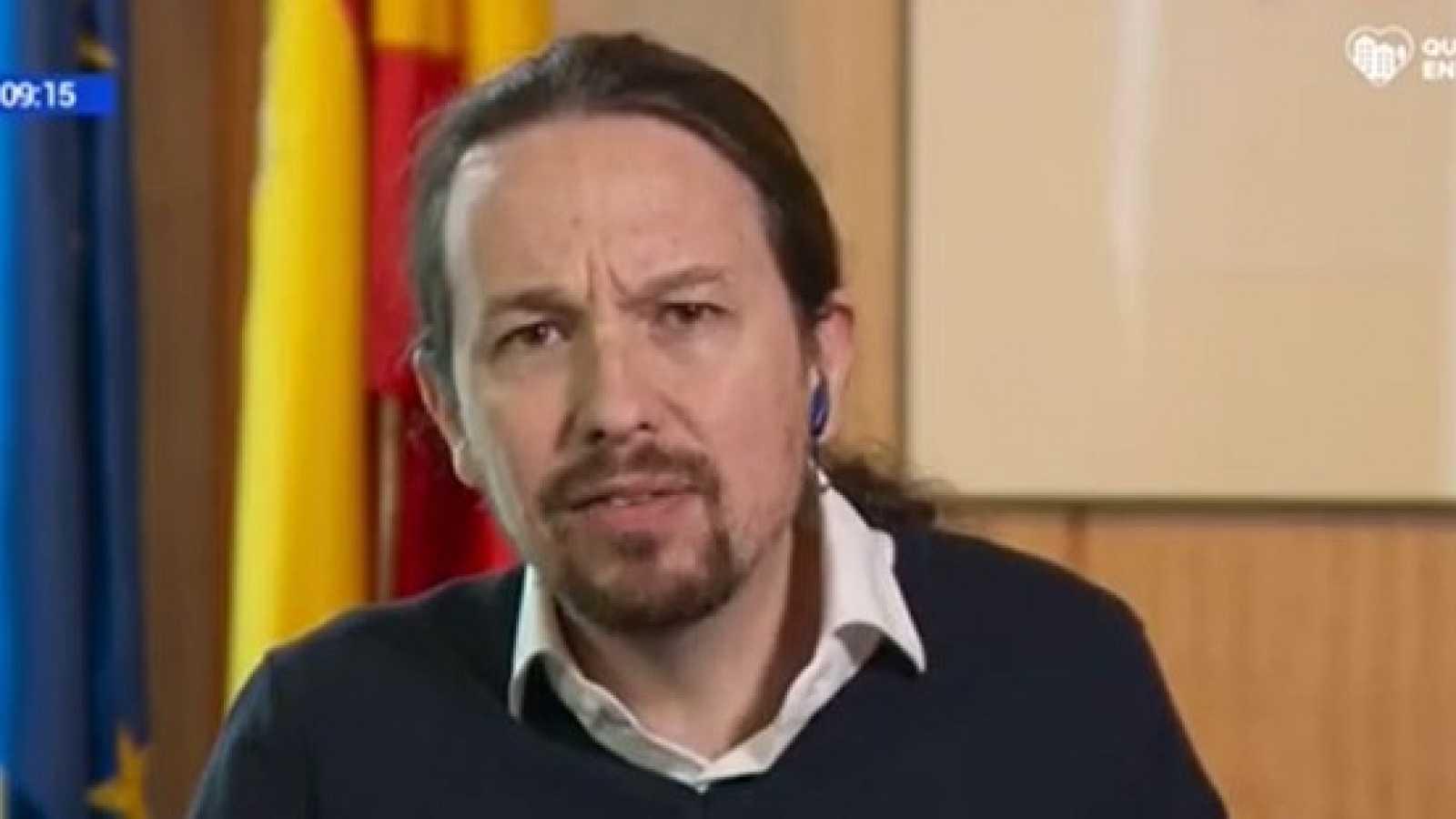 """Pablo Iglesias: """"Es necesario un ingreso mínimo vital puente para ya"""""""