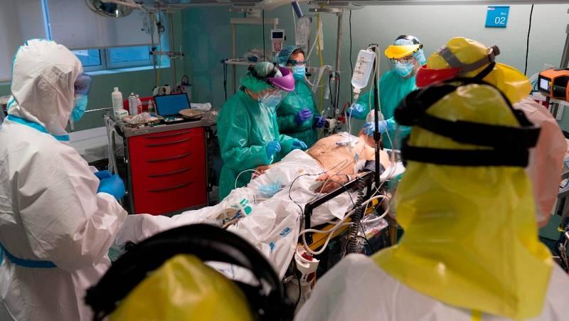 España registra 605 muertes en 24 horas,  un nuevo descenso en el número de fallecidos diarios