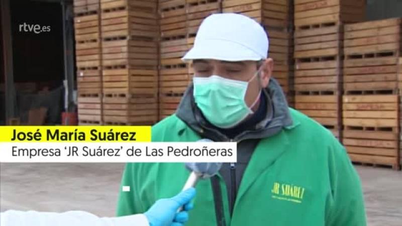 """José María Suárez, agricultor: """"El ajo requiere una mano de obra importante y no sabemos cómo se va a cubrir"""""""