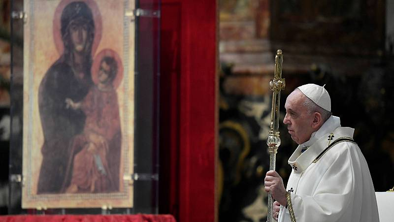 El papa pide a la UE que sea solidaria ante el coronavirus