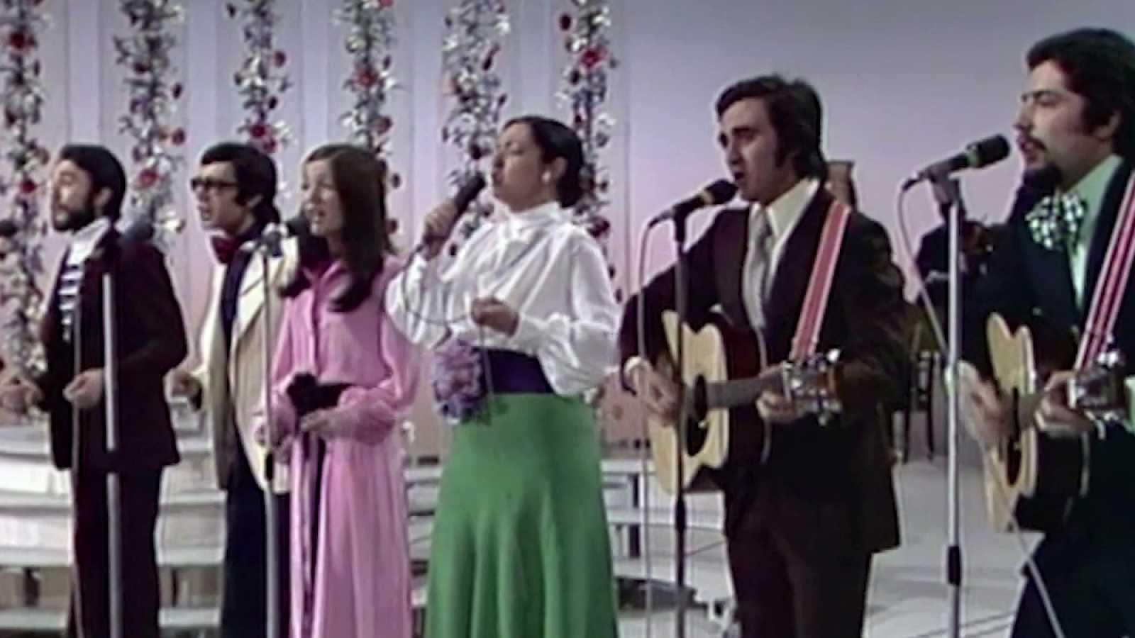 """Festival de Eurovisión 1973 - Mocedades cantaron """"Eres tú"""""""