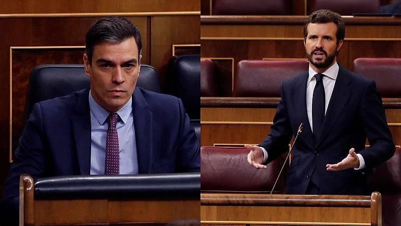 """Casado pide a Sánchez """"luz y taquígrafos"""" para los pactos"""