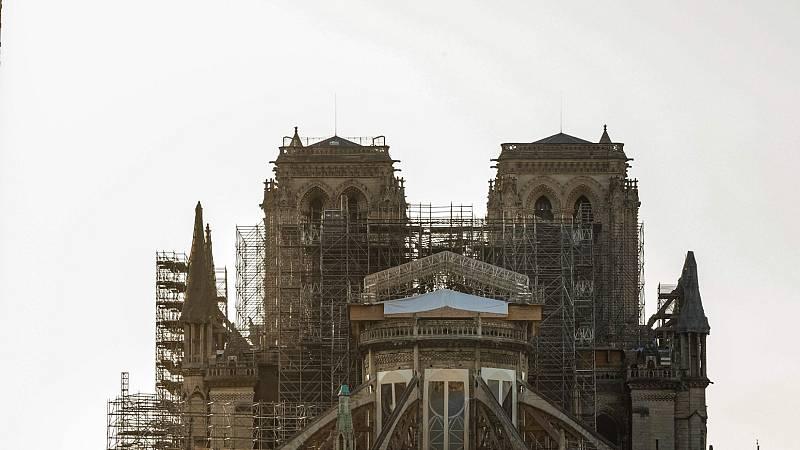 Se cumple un año del incendio de la Catedral de Notre Dame, con las obras paradas por el coronavirus