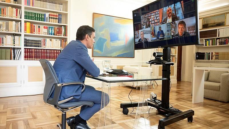 Sánchez continúa su ronda de contactos para la Mesa de reconstrucción y sigue en el aire su reunión con Casado