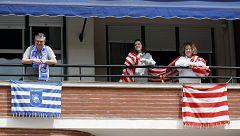 El derbi vasco en la final de Copa del Rey se ha trasladado a los balcones