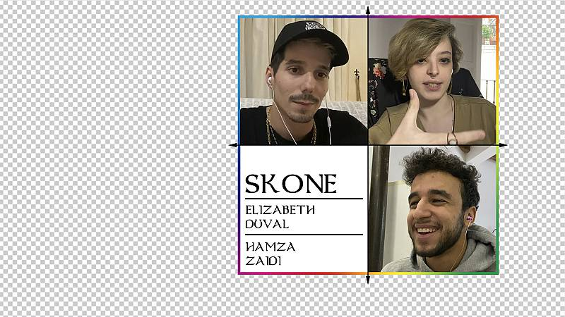 OK Playz con Skone, Hamza Zaidi y Elizabeth Duval