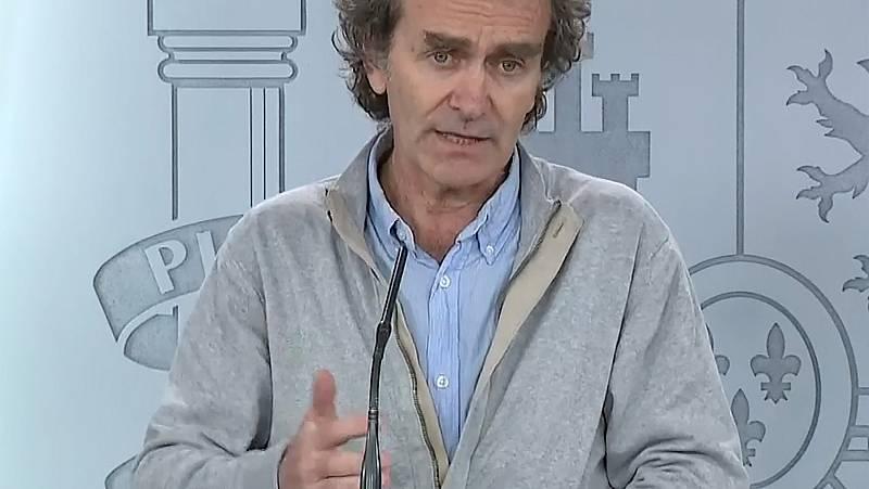 """Fernando Simón: """"La epidemia parece tener una tendencia progresiva y lenta al control"""""""