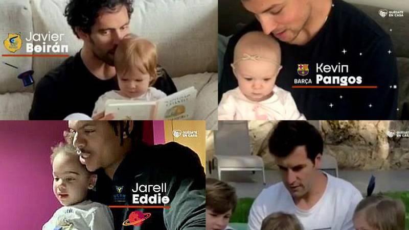 Los jugadores de la ACB celebran el día del libro en familia