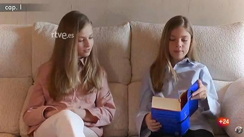 La princesa de Asturias y la infanta Sofía participan en la lectura virtual de 'El Quijote'