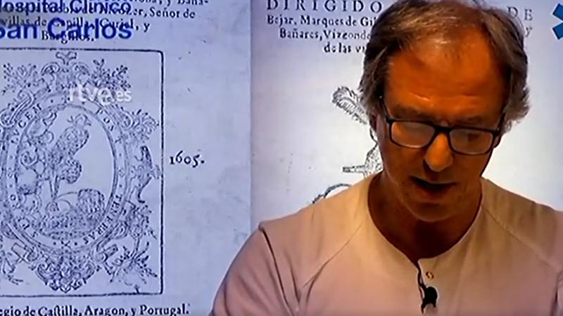 Día del Libro: Juan José González Armengol, jefe del servicio de Urgencias del Hospital San Carlos, participa en la lectura virtual de 'El Quijote'