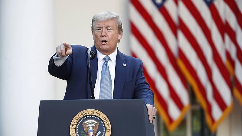 Trump señala que fue sarcástico al sugerir inyectar desinfectante en los enfermos por coronavirus