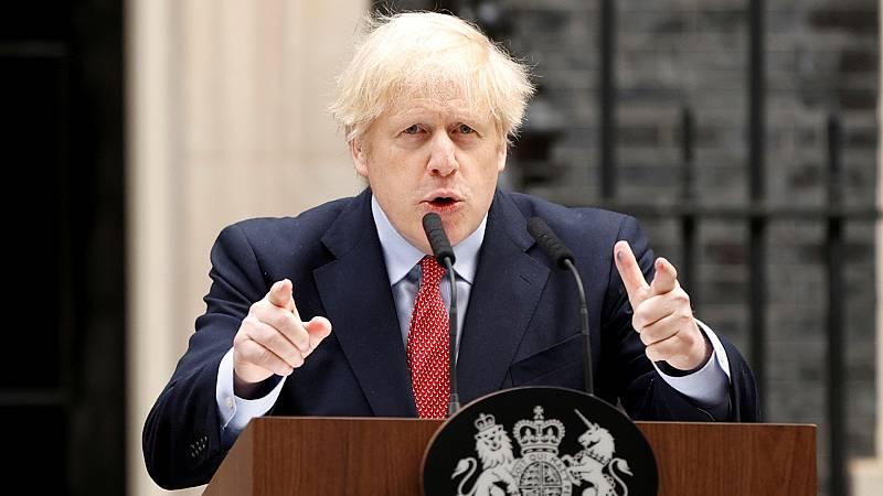 Boris Johnson agradece al Reino Unido los esfuerzos frente al coronavirus y advierte de que el confinamiento debe seguir