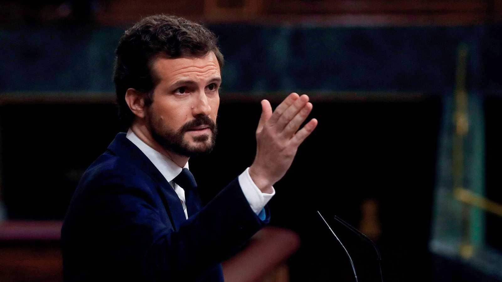 """Pablo Casado: """"Lo que quiera negociar el PSOE, que lo traiga al Congreso"""""""