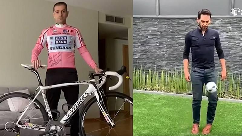 Alberto Contador subasta una de sus bicicletas y su comprador es Rubén Peña, del Villarreal