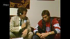 Entrevista a Robinson tras un Real Madid-Osasuna de 1988