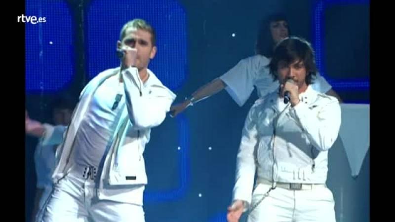 """Festival de Eurovisión 2007 - D'Nash cantó """"I love you mi vida"""""""