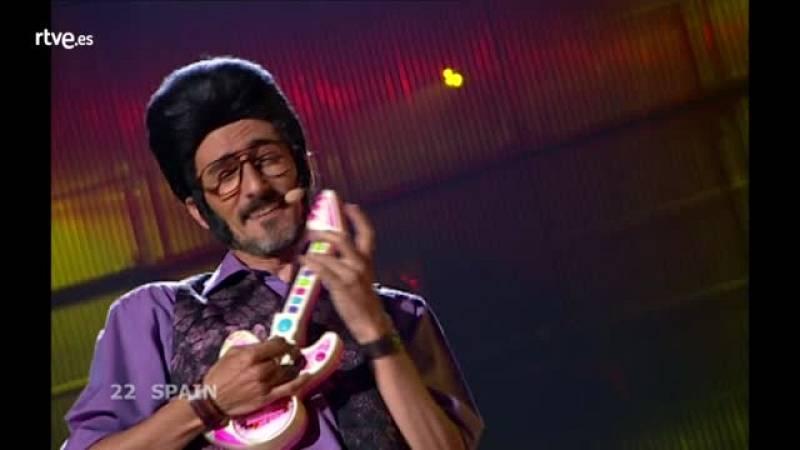 "Festival de Eurovisión 2008 - Rodolfo Chikilicuatre cantó ""Baila Chiki Chiki"""