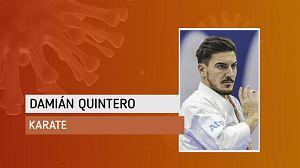 Damián Quintero en su primer entrenamiento al aire libre: