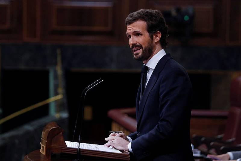 Casado anuncia la abstención del PP en la prórroga del estado de alarma