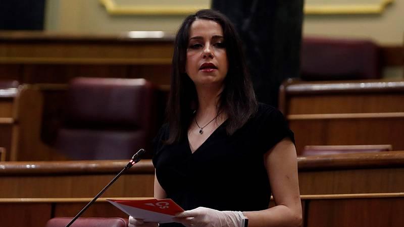 """Arrimadas: """"No estamos votando a favor del Gobierno, sino si queremos que este mismo sábado decaiga el estado de alarma"""""""