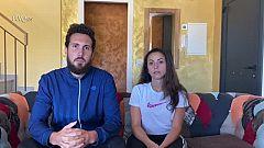 Raúl Martínez y Malen Bonilla se entrenan juntos en Girona