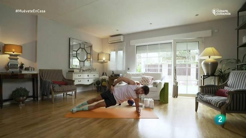 Muévete en casa - Fortalecer oblicuos y laterales del abdomen