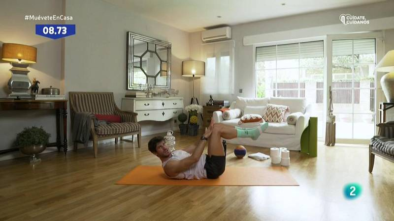 Muévete en casa - Trabajo isométrico de abdomen