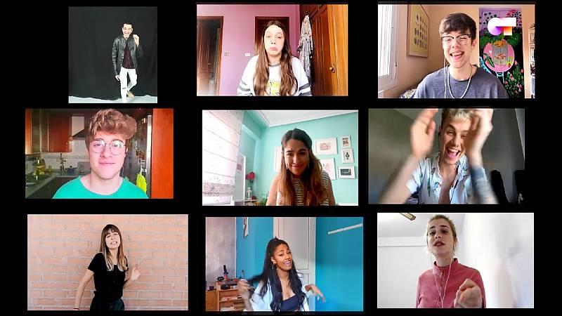 """OT 2020 canta """"Happy"""", la grupal, en el séptimo y último pase de micros de #QuedOTenCasa"""