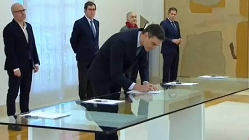 Gobierno, patronal y sindicatos firman la prórroga de los ERTE hasta el 30 de junio