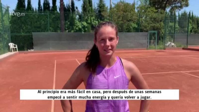 """Kasatkina: """"Habrá que volver a jugar al tenis cuando todo esté seguro"""""""