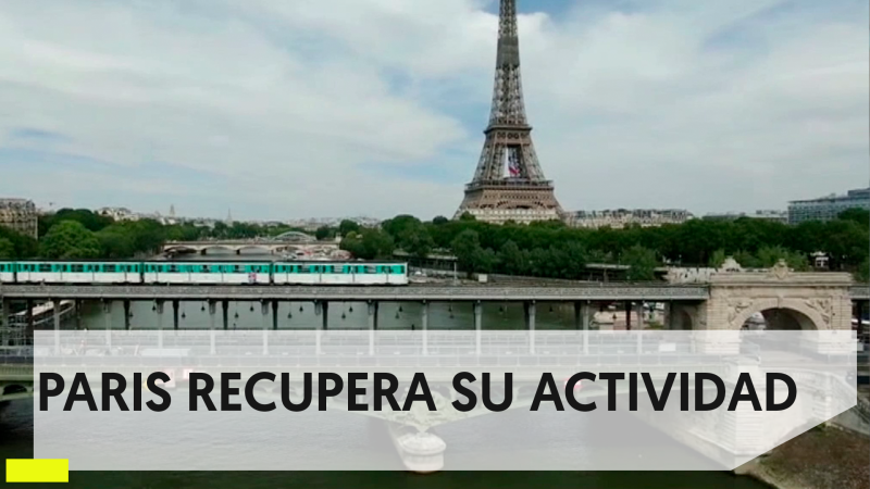 Coronarivus: comercios y tiendas se reencuentran con los clientes en París.