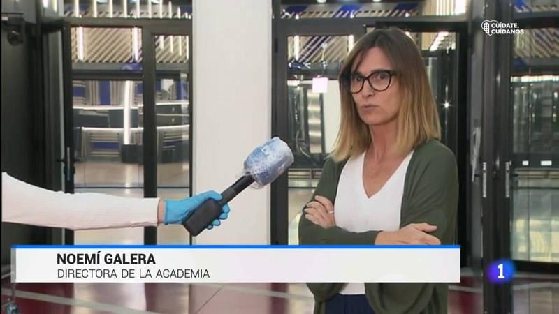 Noemí Galera en el informativo de La1 hablando sobre el regreso de Operación Triunfo 2020