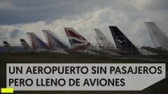 Aviones a la espera en Teruel, listos para despegar